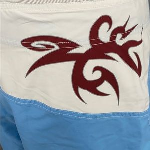 physical Science Swim - Physical Science Light Blue/White Board Shorts